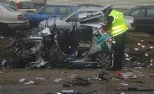Jaśki. Kierowca cudem uniknął śmierci [zdjęcia]